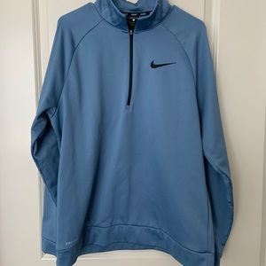 Ice blue nike 3/4 zip pullover